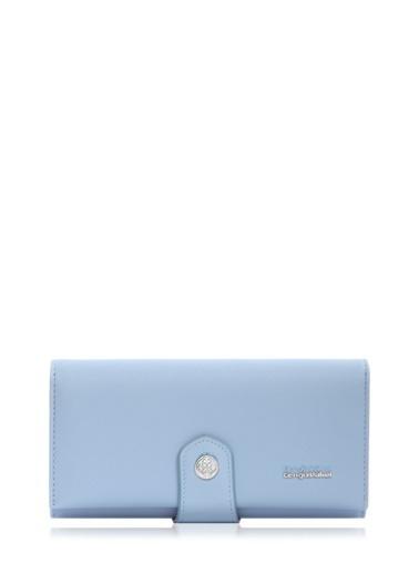 Cengiz Pakel 65222A Teknolojik Deri Orta Boy Renk Portföy Kadın Cüzdan Mavi